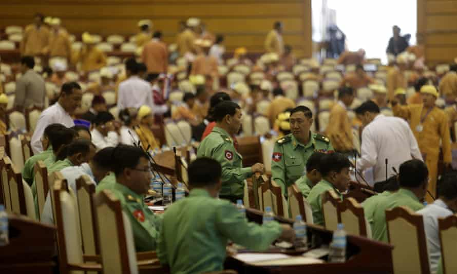 The first session of Myanmar's newly elected parliament