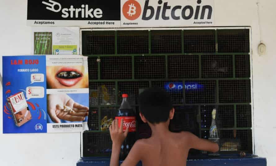 Buy under bitcoin sign