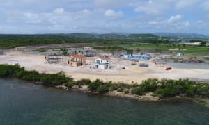 Construction under way on Antigua's north-east coast.