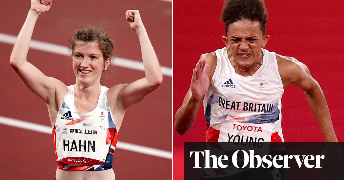 Golden day on track for GB as Sophie Hahn and Thomas Young win T38 100m