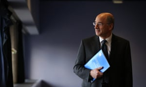 Lord Leveson publishing his report in November 2012.