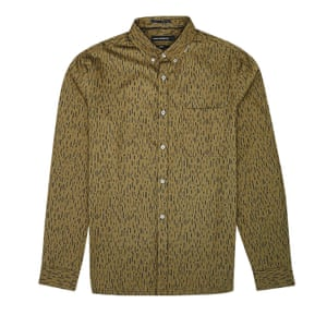 khaki and brown print shirt French Connection