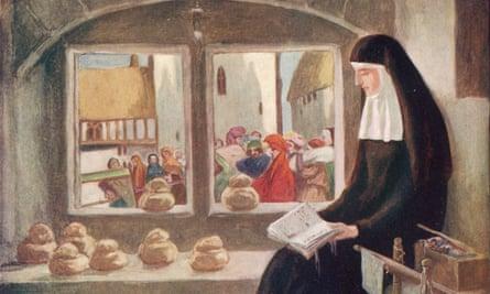 Lady Julian Of Norwich Illustration by Stephen Reid