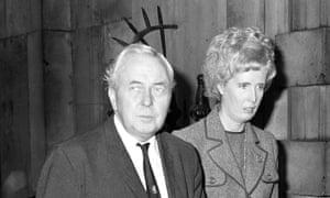 Marcia Williams with Sir Harold Wilson