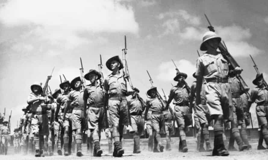 Surafend, Palestine. Australians from the Palestine recruit training depot marching. (Negative by Parer).