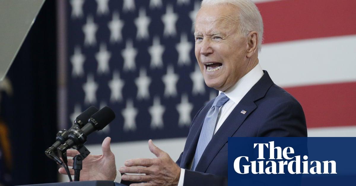 Biden: 'peddlers of lies' are threatening American democracy – video