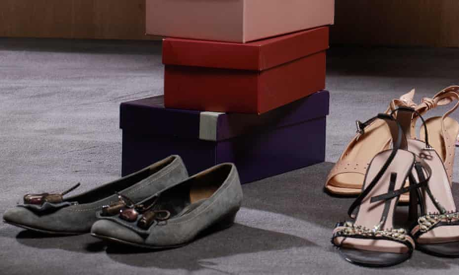 Shoe boxes and shoes