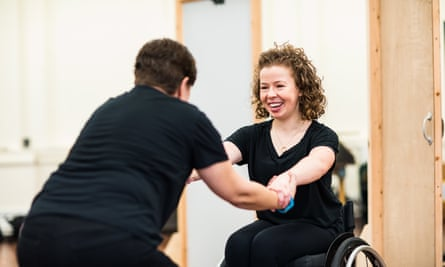Amy Trigg in rehearsals for The Taming of the Shrew with the RSC in 2019.