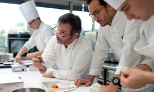 Chef Michel Troisgros in an episode of Netflix show, Chef's Table.