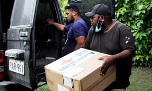 A delivery of PPE from Australian Aid arrives in East New Britain in Papua New Guinea to assist with their fight against coronavirus.
