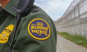 A border patrol agent at the US-Mexico border.