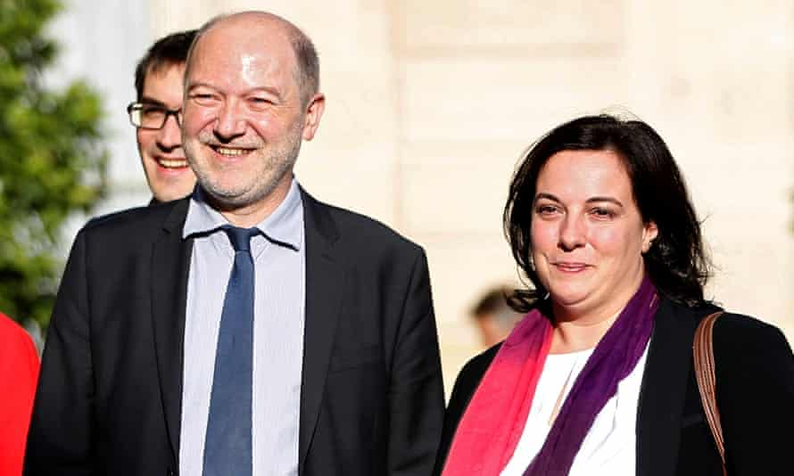 Denis Baupin and his wife Emmanuelle Cosse.