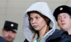 Vashukevich, pictured before her court hearing in Moscow