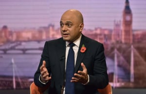 Sajid Javid: 'We want everyone to be better off, but our focus is going to be on working people.'