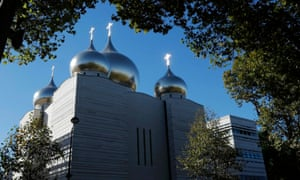 A view shows the Russian Orthodox church and spiritual centre before its inauguration in Paris.