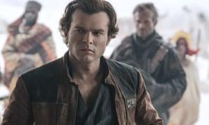 Alden Ehrenreich as Han Solo in Solo: A Star Wars Story.