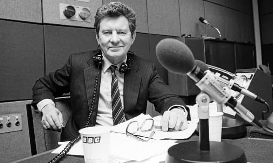 Richard Baker pictured in a BBC Radio 3 studio in Langham Place, central London.