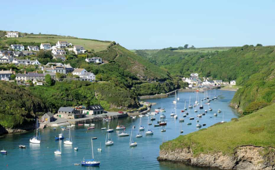 Solva harbour and village in Pembrokeshire