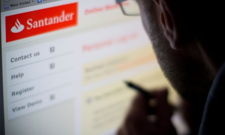 Santander's website offering contract numbers and help.