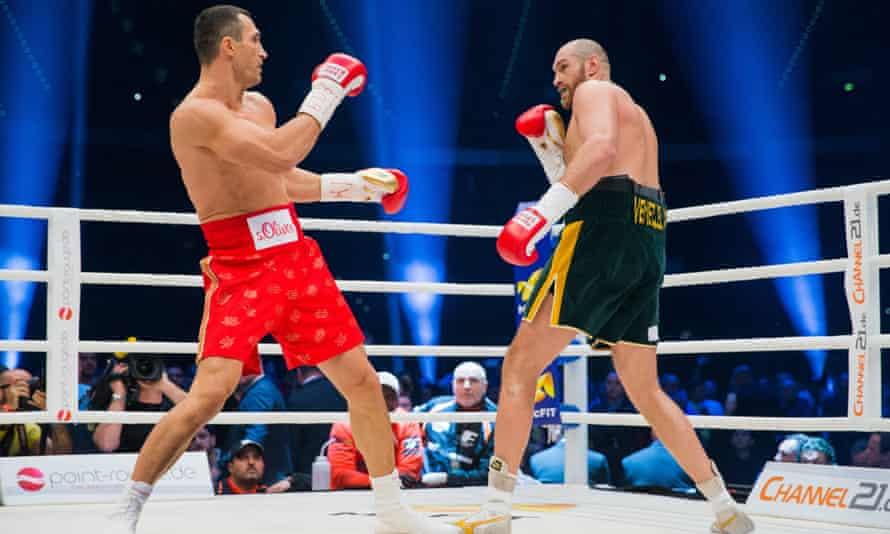 Wladimir Klitschko v Tyson Fury in Düsseldorf on<br>29 November.