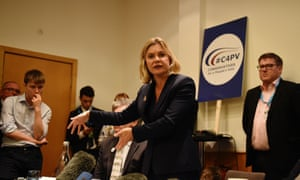 Justine Greening at a fringe meeting campaigning for a people's vote