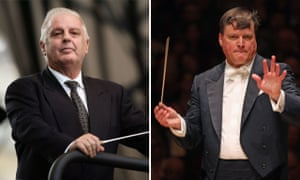 Composite: Conductors Daniel Barenboim, left, and Christian Thielemann
