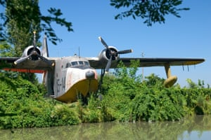 Water plane at Air Museum San Pelagio Castle Due Carrare Veneto Italy.