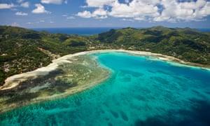 Bay of Anse a la Mouche in the Seychelles