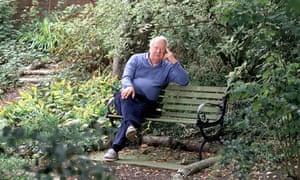 Edward Heath at his home in Salisbury in 1985