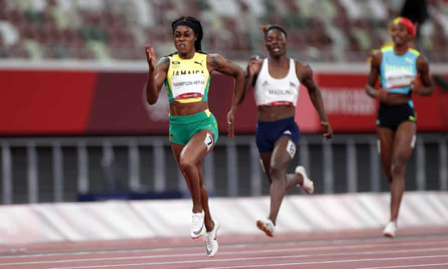 Elaine Thompson-Herah sprints to glory in the 200m at Tokyo 2020