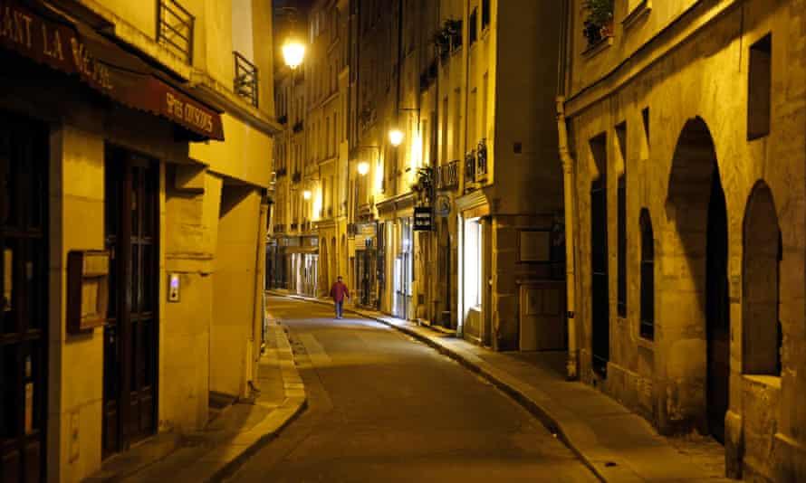 Deserted Paris street