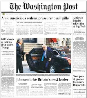 Washington post front page