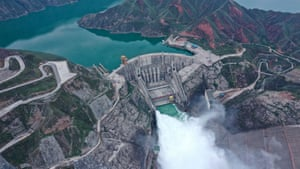 Qinghai, China The Lijiaxia hydropower station releases water in preparation for the flood peak.