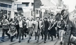 Student demonstration in Heidelberg in the 1970s.