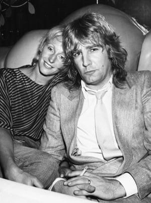Parfitt and his wife Marietta at Stringfellows club in London, 24 November 1982