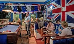 Britons at a bar in Benalmadena, Spain.