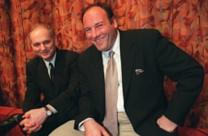 'Jim Gandolfini was a magnet' ... David Chase and James Gandolfini in 1999.