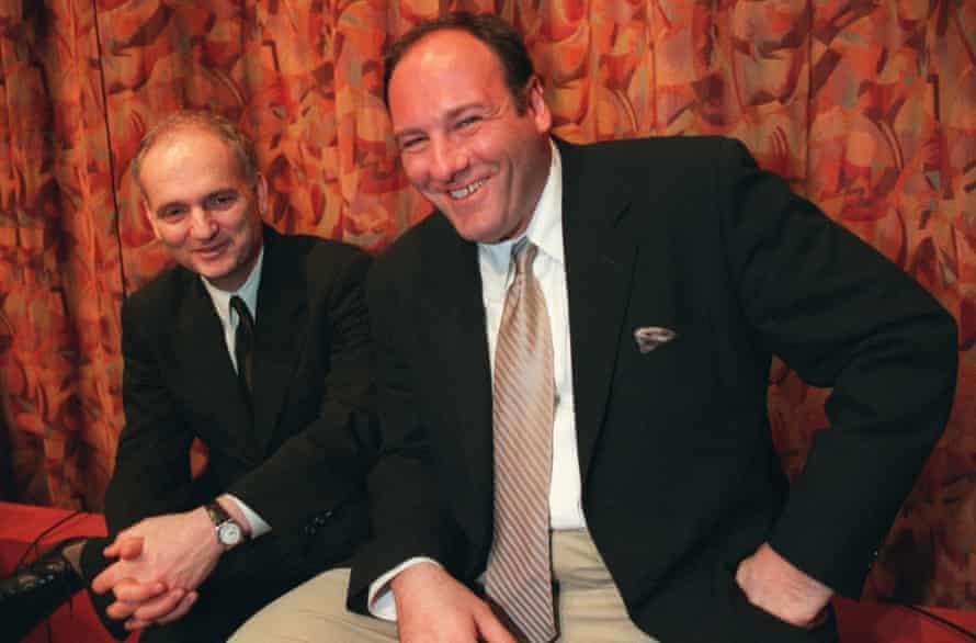 'Jim Gandolfini was a magnet' ... David Chase and James Gandolfini in 1999.