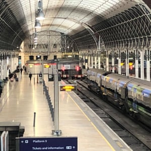"An empty platform on Paddington Station in London today, the day after the Prime Minister said that Covid-19 ""is the worst public health crisis for a generation"", and the government's top scientist warned that up to 10,000 people in the UK are already infected."