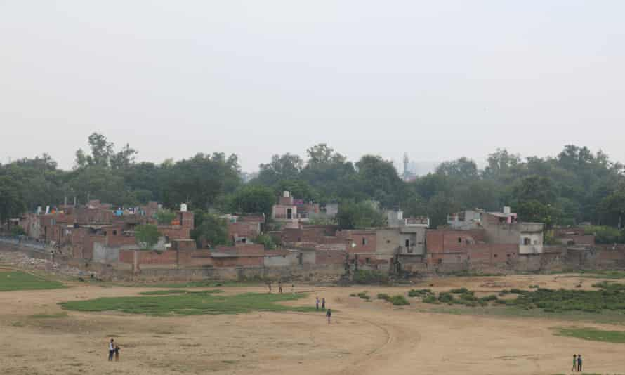 An aerial view of one of Tahir Pur's 29 leprosy colonies in east Delhi. Spanning 74 acres, the colonies make up the largest leprosy complex in the world.