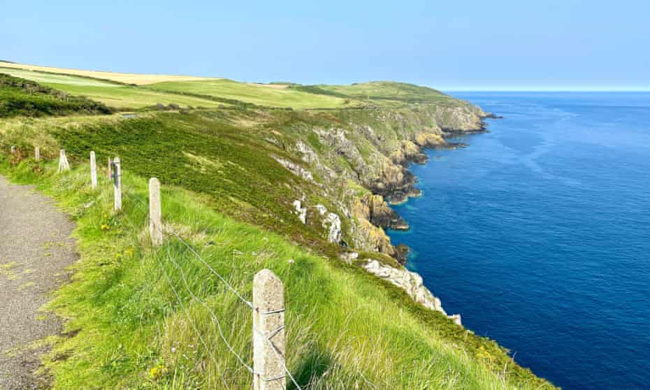 The rugged coastline of the Isle of Man.