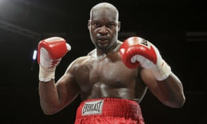 Larry Olubamiwo after defeating Dave Ferguson at the Brentwood Centre, Essex in 2010.