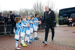February 9: Aaron Mooy of Huddersfield Town arrives before the Premier League match between Huddersfield Town and Arsenal at John Smith's Stadium.