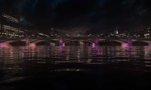 'The largest screensaver in the world?': Leo Villareal's lighting design for Southwark Bridge.