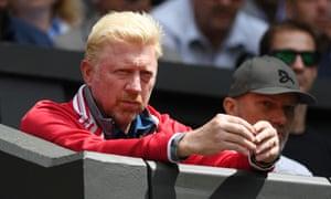 Boris Becker at Wimbledon in 2016