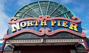 The entrance to North Pier in Blackpool, Lancashire