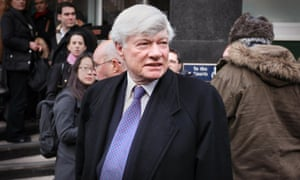 Human rights lawyer Geoffrey Robertson QC at Westminster magistrates court when Assange appealed for bail in 2010