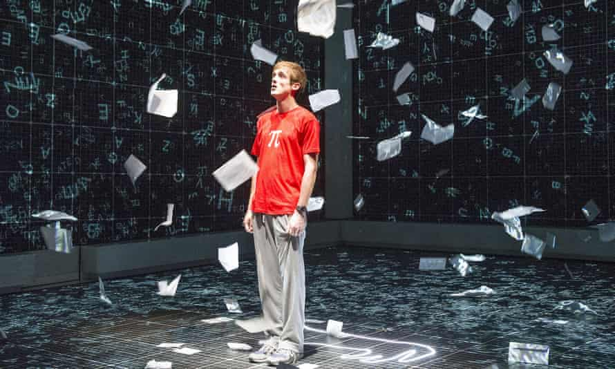 Graham Butler as autistic teenager Christopher in the stage version of The Curious Incident of the Dog in the Night-Time.