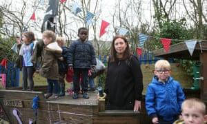 Jane Morrissey at Rosehill children's nursery in Bolton