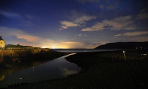 The night sky over Porlock Weir, Somerset
